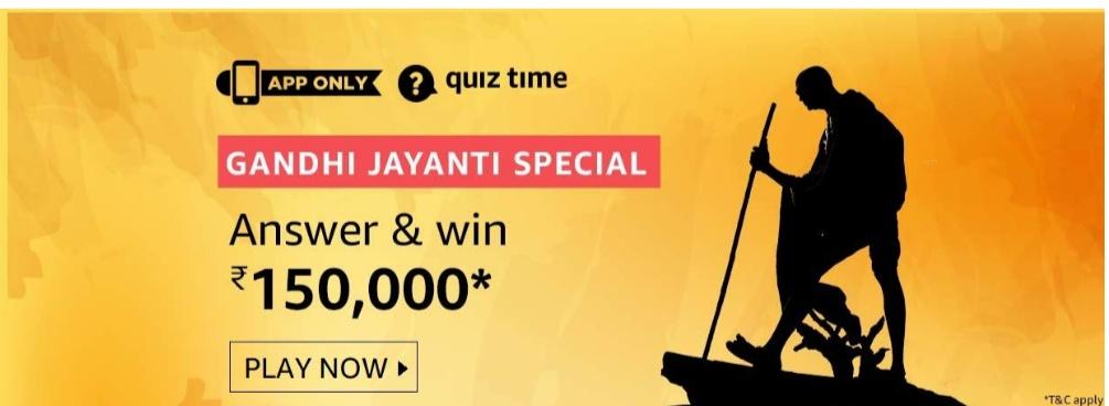 Gandhi Jayanthi Special Quiz